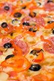 Priorità bassa della pizza Immagine Stock Libera da Diritti