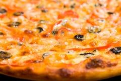 Priorità bassa della pizza, fuoco stretto Immagine Stock Libera da Diritti