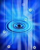 Priorità bassa della rete di tecnologia dell'ondulazione dell'acqua fotografia stock libera da diritti