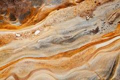 Priorità bassa della roccia sedimentaria Immagini Stock