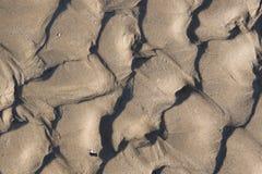 Priorità bassa della sabbia di mare Fotografia Stock Libera da Diritti