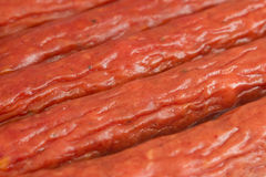 Priorità bassa della salsiccia Immagine Stock