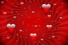 Priorità bassa della scheda del biglietto di S. Valentino immagini stock
