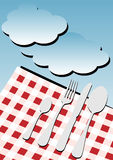 Priorità bassa della scheda del menu - picnic royalty illustrazione gratis