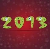 Priorità bassa della scheda del regalo del serpente di nuovo anno Fotografia Stock