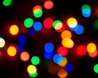 Priorità bassa della sfuocatura degli indicatori luminosi di colore Fotografie Stock