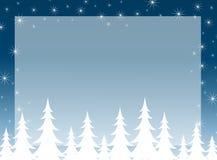 Priorità bassa della siluetta dell'albero di Natale Immagini Stock