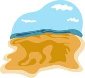 Priorità bassa della spiaggia Fotografie Stock