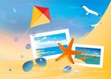 Priorità bassa della spiaggia di estate Fotografia Stock Libera da Diritti