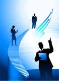 Priorità bassa della squadra di affari con la scaletta corporativa Immagini Stock