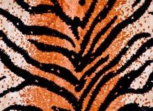 Priorità bassa della stampa della tigre Fotografia Stock