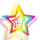 Priorità bassa della stella del Rainbow Fotografia Stock