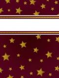 Priorità bassa della stella dell'oro Immagini Stock