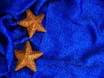 Priorità bassa della stella dell'oro Immagini Stock Libere da Diritti