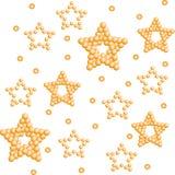 Priorità bassa della stella dell'oro Fotografie Stock