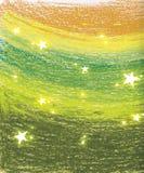 Priorità bassa della stella di verde di pisello Fotografie Stock Libere da Diritti