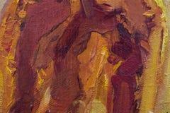 Priorità bassa della tela di canapa verniciata olio Fotografie Stock Libere da Diritti