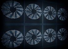 Priorità bassa della turbina del ventilatore immagine stock