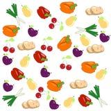 Priorità bassa della verdura e della frutta Fotografie Stock