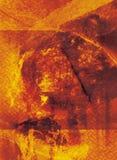 Priorità bassa della zolla d'acciaio Fotografia Stock Libera da Diritti