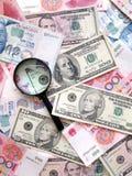 Priorità bassa delle banconote Fotografie Stock Libere da Diritti