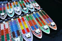 priorità bassa delle barche Immagine Stock