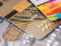 Priorità bassa delle carte di credito Immagini Stock
