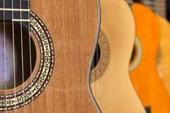 Priorità bassa delle chitarre Fotografia Stock Libera da Diritti