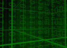 Priorità bassa delle cifre binarie Fotografia Stock Libera da Diritti