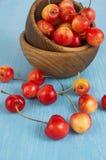 Priorità bassa delle ciliege mature Fotografia Stock