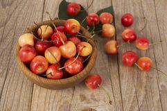 Priorità bassa delle ciliege mature Fotografie Stock