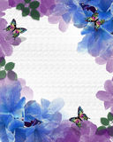Priorità bassa delle farfalle dei fiori illustrazione vettoriale