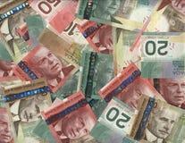 Priorità bassa delle fatture canadesi Fotografia Stock Libera da Diritti