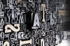 Priorità bassa delle fonti tipografiche Fotografia Stock