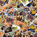 Priorità bassa delle foto dell'alimento Fotografie Stock Libere da Diritti