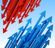 priorità bassa delle frecce 3d Immagini Stock Libere da Diritti