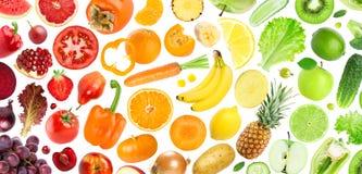 Priorità bassa delle frutta e delle verdure Fotografia Stock Libera da Diritti