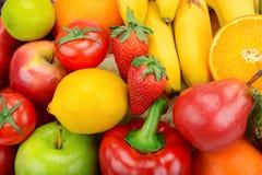 Priorità bassa delle frutta e delle verdure Immagine Stock Libera da Diritti
