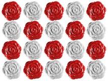 Priorità bassa delle guarnizioni delle rose della cera Immagini Stock Libere da Diritti