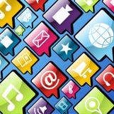 Priorità bassa delle icone di app del telefono mobile illustrazione vettoriale