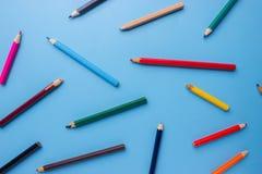 Priorità bassa delle matite colorate per creatività Fotografie Stock