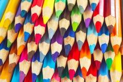 Priorità bassa delle matite colorate per creatività Fotografie Stock Libere da Diritti