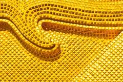 Priorità bassa delle mattonelle dell'oro Fotografia Stock Libera da Diritti