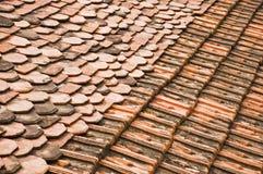 Priorità bassa delle mattonelle di tetto Immagine Stock