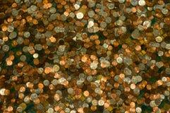 Priorità bassa delle monete Fotografia Stock