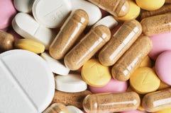 Priorità bassa delle pillole Fotografia Stock Libera da Diritti