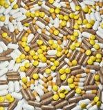 Priorità bassa delle pillole Fotografia Stock