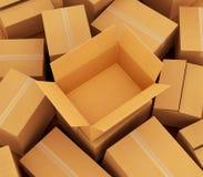 Priorità bassa delle scatole di cartone Immagini Stock Libere da Diritti