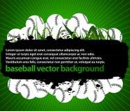 Priorità bassa delle sfere di baseball Fotografia Stock Libera da Diritti