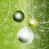 Priorità bassa delle sfere di nuovo anno. Fotografia Stock